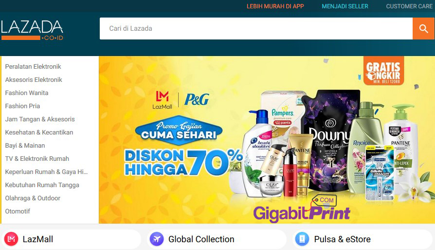 Review Online Shop Indonesia : Lazada